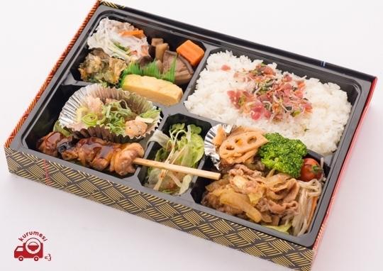 鶏天ポン酢と明太子と彩り野菜の豚巻きカツダブル弁当